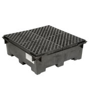 4 Drum Spill Containment Sump with Plastic Deck