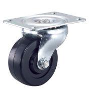 """Light Duty Swivel Plate Caster 3"""" Rubber Wheel"""