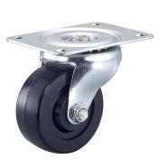 """Light Duty Swivel Plate Caster 4"""" Rubber Wheel"""