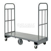 Steel Deck Narrow Aisle High End U-Boat Platform Truck 60 x 24 1500 Lb. Capacity