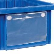 "Quantum Label Holder LBL5X8 for Plastic Dividable Grid Container, 8""W x 5""H"