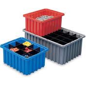 "AKRO-MILS Akro-Grid Dividable Container - 16-1/2x10-7/8x8"" - Gray - Pkg Qty 6"