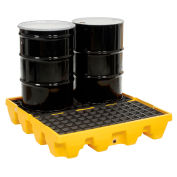 4 Drum Low Profile Spill Containment Pallet