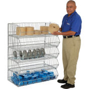 Stackable Wire Storage Rack Removable Bins, 48x20x54