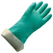 Flock Lined Large Nitrile Gloves, Green, Large, 22 mil, 1 Pair