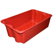 """Molded Fiberglass Nest and Stack Tote 780508-5280 - 24-1/4"""" x 14-3/4"""" x 8"""" Red - Pkg Qty 10"""