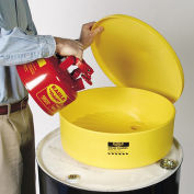 """EAGLE Side-Wall Poly Funnel - 18"""" Diameter Top Opening - With Screen"""