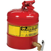 Justrite® 5 Gallon Safety Shelf Can with Bottom Faucet 08902