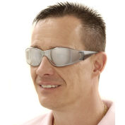 Boas Safety Glasses, Mirror Frame, Silver Mirror Lens