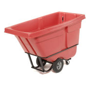 "Rubbermaid 1305 Standard Duty 1/2 Cu. Yd. Red Tilt Truck, 60""L x 28""W x 38-5/8""H"