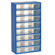 Multi-Drawer Cabinet, 24 Drawers, Blue, Steel