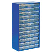 Multi-Drawer Cabinet, 48 Drawers, Blue, Steel