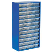 Multi-Drawer Cabinet, 60 Drawers, Blue, Steel
