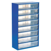 Multi-Drawer Cabinet, 8 Drawers, Blue, Steel