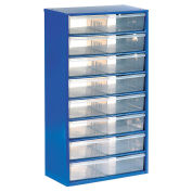 Multi-Drawer Cabinet, 16 Drawers, Blue, Steel
