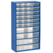 Multi-Drawer Cabinet, 30 Drawers, Blue, Steel