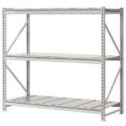 "Extra High Capacity Bulk Rack With Steel Decking, Starter Unit, 96""W x 24""D x 120""H"
