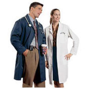 Lab Coat, Unisex, Navy, L