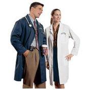 Lab Coat, Unisex, Navy, XL