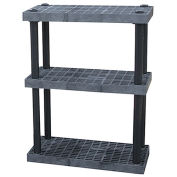 "STRUCTURAL PLASTICS Dura-Shelf Plastic Shelving With Ventilated Grid-Top Shelves - 36x16"" Shelves"