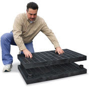 "STRUCTURAL PLASTICS Add-A-Level Modular Work Platform - 96x36"" - Base Platform"