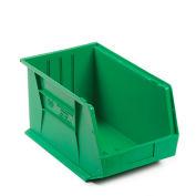 Quantum QUS255 Plastic Stackable Bin, 11 x 16 x 8 Green - Pkg Qty 4