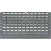Louvered Wall Panel, 18x19, Gray - Pkg Qty 4