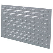 Louvered Wall Panel, 36x19, Gray - Pkg Qty 4