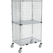 "Enclosed Wire Exchange Truck 2 Wire 1 Galvanized Shelf 1000 Lb Cap, 60""x24""x69"""
