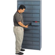 "75""H Steel Drawer Cabinet with 36 Drawers"