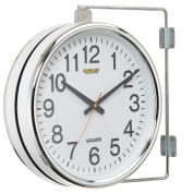 Double Sided Wall Clock, Battery Operated