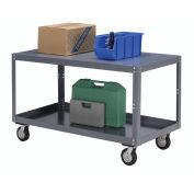 "Portable Steel Table, 2 Shelves, 1200 Lb. Capacity, Unassembled, 48""L x 30""W x 30""H"