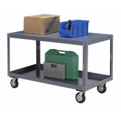 "Portable Steel Table, 2 Shelves, 1200 Lb. Capacity, Unassembled, 60""L x 30""W x 30""H"