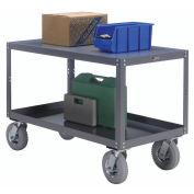"Portable Steel Table, 2 Shelves, 1200 Lb. Capacity, Unassembled, 60""L x 30""W x 33-1/2""H"