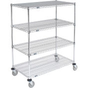 Nexel E-Z Adjust Wire Shelf Truck, 48x24x60, 1200 Pound Capacity