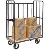 "High End Wood Shelf Truck, 1200 Lb. Capacity, 48""L x 24""W x 64""H"