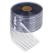 "TMI 12"" x 150' x .110"" PVC Strip Curtain Bulk Roll, Scratch Resistant Ribbed Clear"