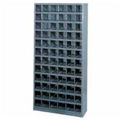 Steel Storage Bin Cabinet, 16 Compartments, 36x18x39