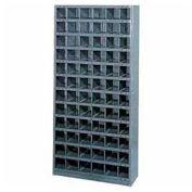 Steel Storage Bin Cabinet, 32 Compartments, 36x18x75