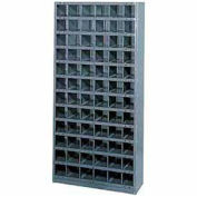 72 Compartment Storage Bin Cabinet, 36x12x75, Steel