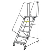 "Ballymore FSH618P Perforated 16""W 6 Step Steel Rolling Ladder 14""D Top Step"