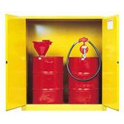 Drum Storage Manual 2 Door, (2) 55 Gal. Drum Cap.