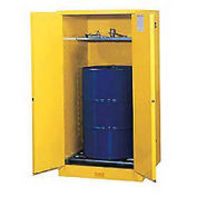 Drum Storage Self-Close Doors Vertical Storage, 55 Gallon