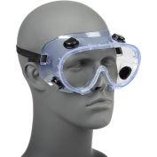 Chemical Splash Resistant Goggles - Standard, Clear Lens, Black Straps