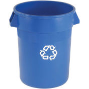 Rubbermaid® Brute Round Recycling Container, 44 Gallon, Blue