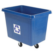Rubbermaid® Mobile Recycling Container Cube Truck, 16 Cu. Ft., Blue