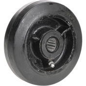 """5"""" x 1-1/2"""" Mold-On Rubber Wheel, 1/2"""" Axle, 1/Pk"""