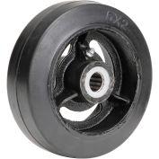 """6"""" x 2"""" Mold-On Rubber Wheel, 3/4"""" Axle, 1/Pk"""