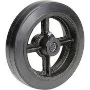 """8"""" x 2"""" Mold-On Rubber Wheel, 3/4"""" Axle, 1/Pk"""
