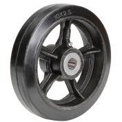 """10"""" x 2-1/2"""" Mold-On Rubber Wheel, 1"""" Axle, 1/Pk"""